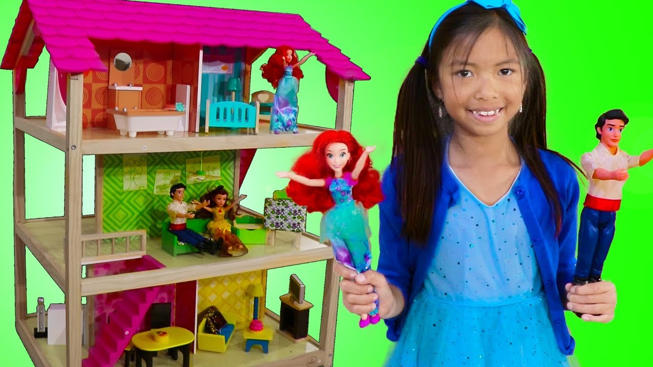 Wendy Pretend Play w Princess Ariel Doll Bedroom Playhouse  Furniture Toys  YouTube