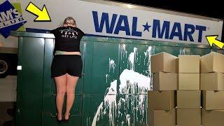 WALMART EMPLOYEE'S LEFT US A SURPRISE IN THEIR DUMPSTER ! THANKS WALMART !!