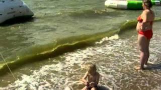 Детский пляж в должанской