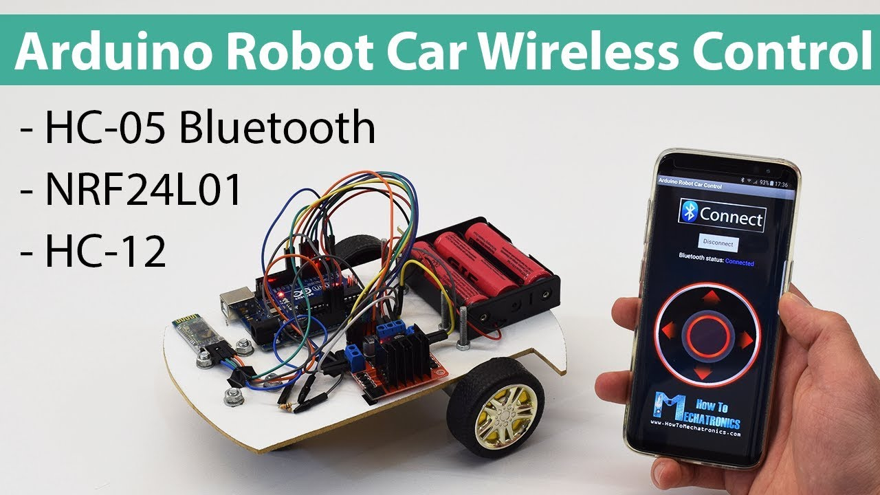 Arduino Robot Car Wireless Control using HC-05 Bluetooth, NRF24L01
