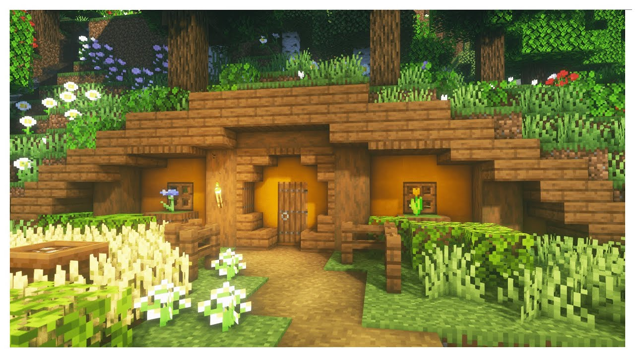 Minecraft How To Build A Simple Hobbit Hole Youtube