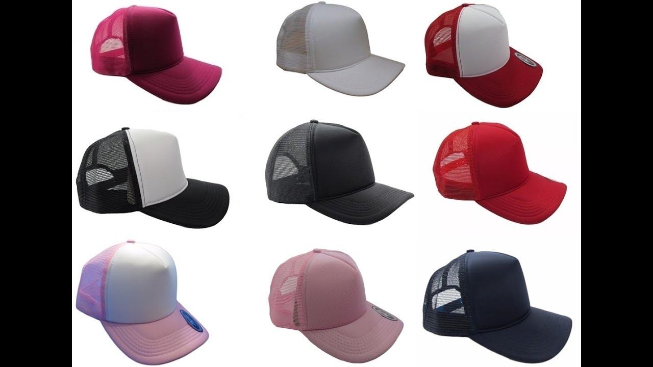 Boné Trucker De Redinha Aba Curva Snapback Várias cores. - YouTube 9d968d9f410