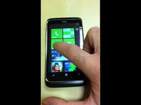 HTC 7 Trophy - Windows Phone 7. Interface Review.