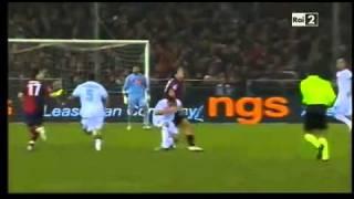 Genoa  Vs  Napoli 0-1   HIGHLIGHTS AMPIA SINTESI HD 11 12 10 16 giornata 2010