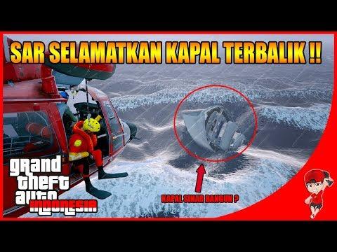 GTA V MOD INDONESIA (30) - TIM SAR MENYELAMATKAN KAPAL TERBALIK !!