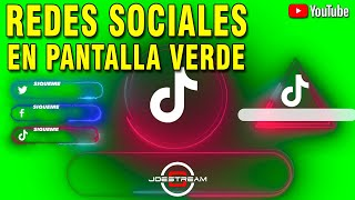 Green Screen TIK TOK LOWERTHIRDS - Pantalla Verde Top 5 de Redes Sociales GRATIS | JOEStream