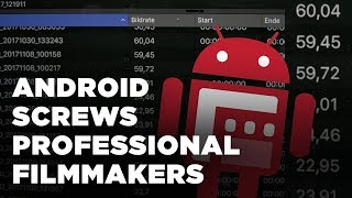 Dropping frame rates with Android videos – Why Android screws professional filmmakers
