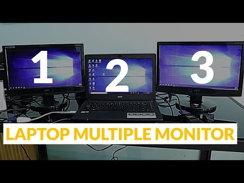 Triple monitor on our Laptop   Multiple display windows 10