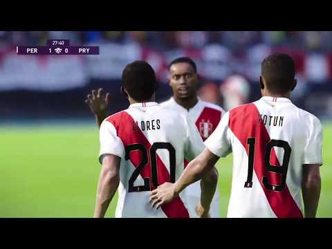 Peru Vs Paraguay En Vivo Eliminatorias Qatar 2022 Pes 2020 Gameplay Youtube