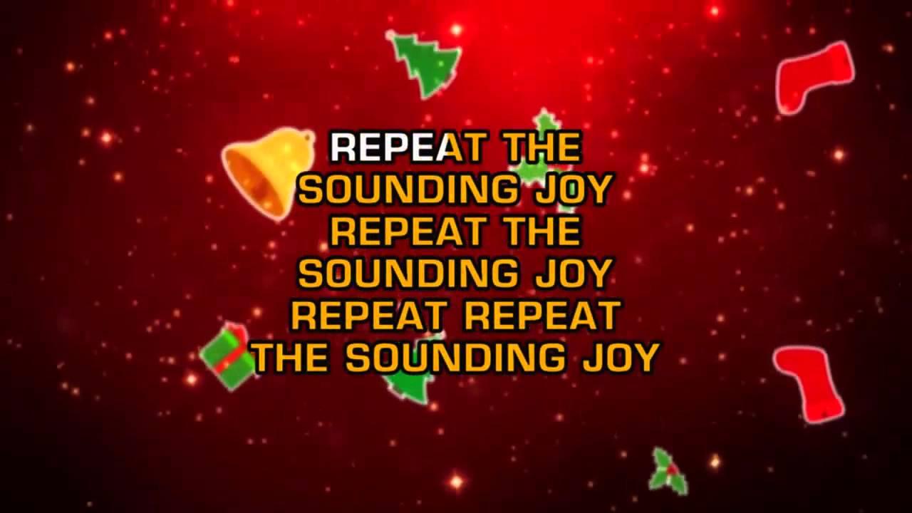 Traditional Christmas Songs - Joy To The World (Karaoke) - YouTube