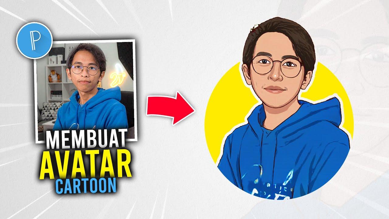 Cara Membuat Avatar Kartun pakai Foto Sendiri di Hp Android   PIXELLAB TUTORIAL #11
