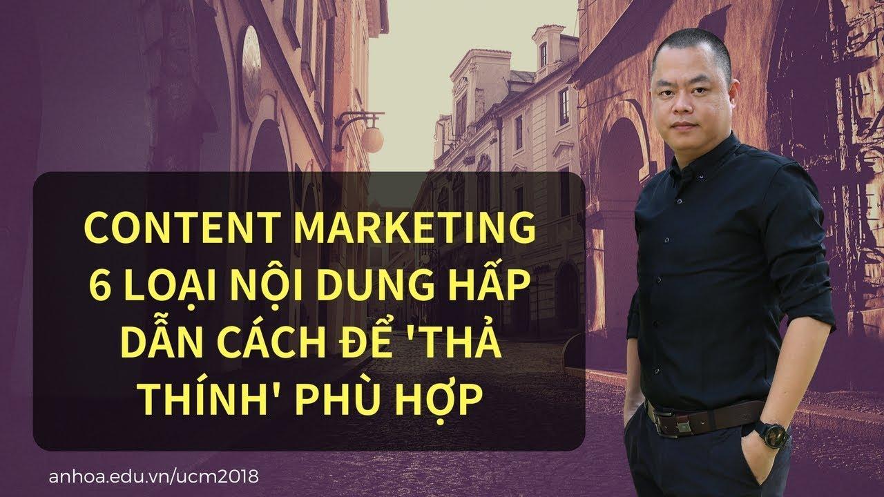 Content marketing – 6 loại nội dung hấp dẫn cách để 'thả thính' phù hợp – CEO Nguyễn Vĩnh Cường