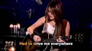 Miley Cyrus - Butterfly fly away Karaoke