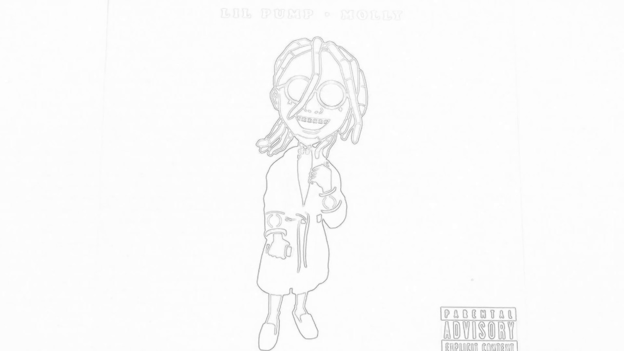 lil pump coloring pages | Done Drawing Lil Pump Cartoon Character - YouTube