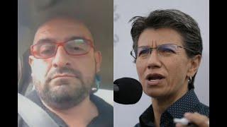 """""""Nadie que se exprese así merece llamarse líder"""": Claudia López responde al taxista Freddy Contreras"""