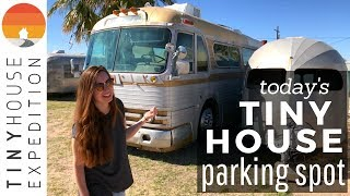 Groovy Vintage Trailers and Tiny Houses in Tucson | S1 E13 Today's Tiny House Parking Spot