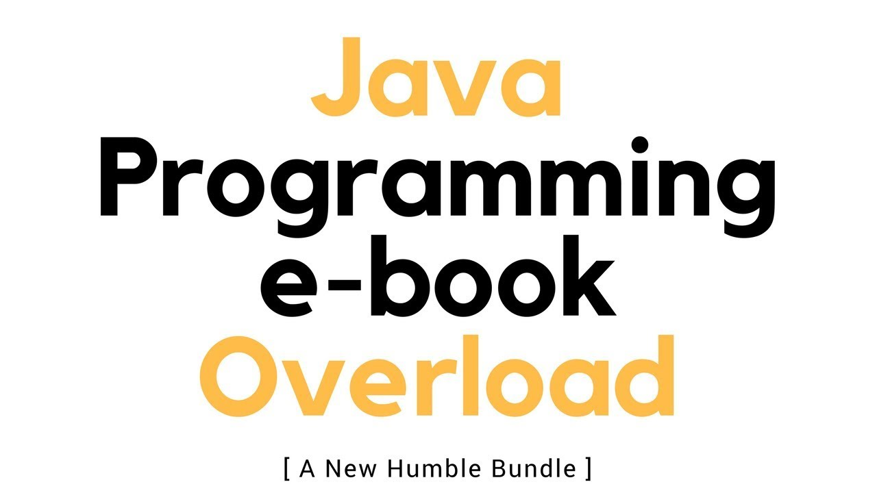Java Programming Ebook