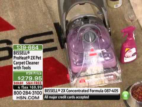 Bissell Proheat 2x Pet Carpet Cleaner With Tools Youtube
