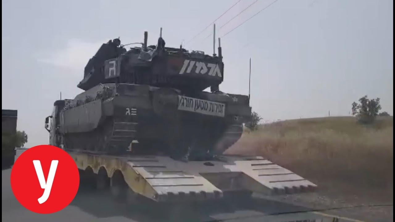 """לאחר הרגיעה בדרום: טנקים של צה""""ל חוזרים צפונה"""