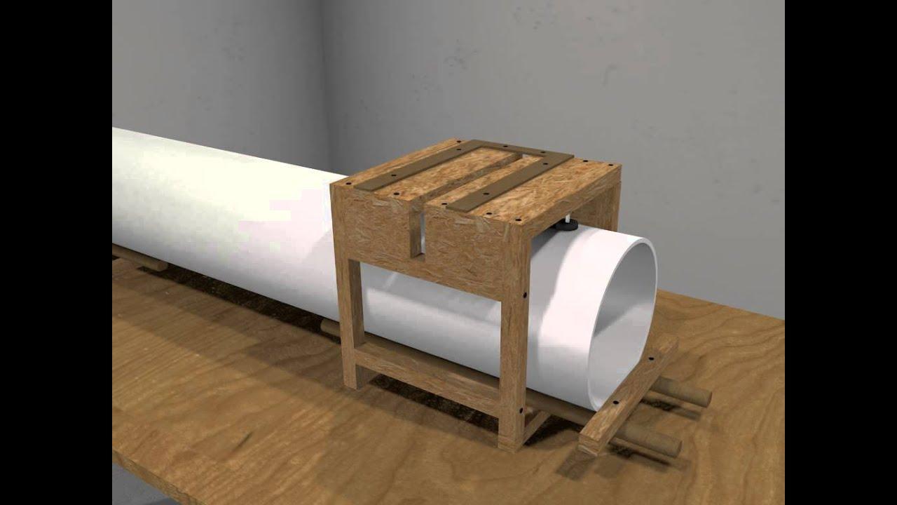 PVC pipe cutting jig (Blender render) - YouTube