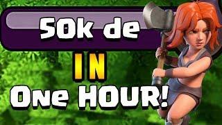 50000 DARK ELIXIR in ONE HOUR!?  TH9 Dark Elixir Time   Clash of Clans
