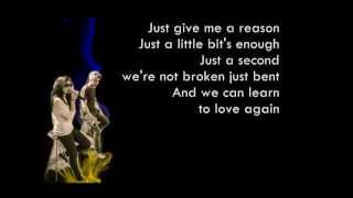 P!nk - Just Give Me A Reason Cover by Sarah Geronimo and Bamboo (LYRICS)
