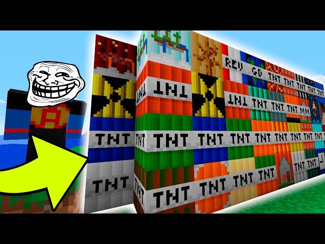 Minecraft: MUITAS TNTS TROLLS | Afreim [ Troll Craft ]