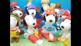 2002 CONNECT-A-SNOOPY SET OF 12 McDONALDS HAPPY MEAL KIDS TOYS VIDEO REVIEW (AUSTRALIA IMPORT)