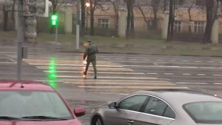 Весенний ливень, гроза, наводнение, потоп, апокалипсис, Армагеддон в Москве 21 апреля 2018 года.