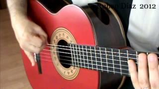 Basic Rasgueos  Practice 1 / Ruben Diaz Flamenco Guitar Lessons CFG studio Malaga