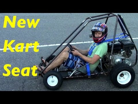 Homemade Go-Kart Seat Installation - YouTube