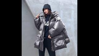 Куртка женская теплая с хлопковой подкладкой капюшоном и карманами купить с Aliexpress