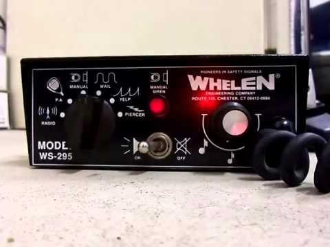 old skool whelen ws295 siren demo with rare piercer option