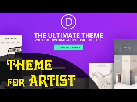 Best wordpress theme for artists Musicians, Singers, Painters - DIVI