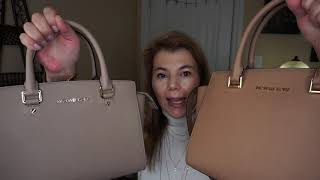 Michael Kors Vlog 8 Selma & Whitney Colour Comparison Truffle, Dark Khaki, Acorn