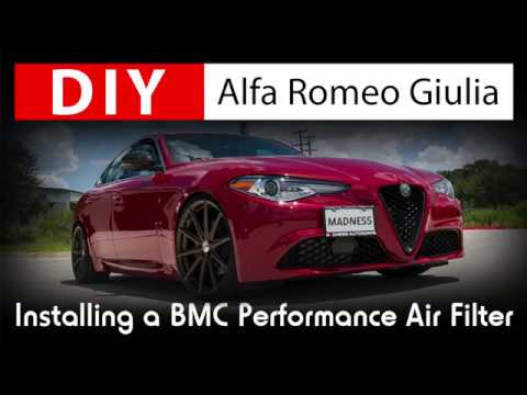 DIY Alfa Romeo Giulia: Installing a BMC High Performance Air Filter