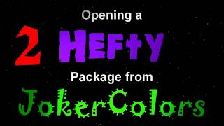 Opening a Hefty Package from JokerColors - Part 2