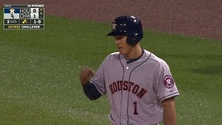 HOU@CWS: Correa gets first hit, RBI after review