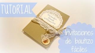 Tutorial invitación para bautizo