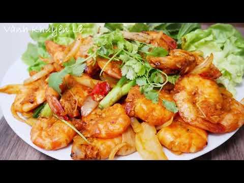 TÔM RANG ME - Cách làm Tôm và món Tôm rang Me vị vừa ăn và màu sắc đẹp by Vanh Khuyen