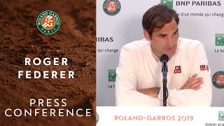 Roger Federer - Press Conference after Semi-Finals | Roland-Garros 2019