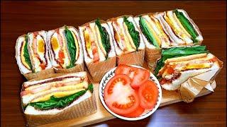 영양 만점 클럽샌드위치  만들기 쉬운 피크닉 샌드위치 …