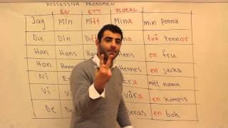 Svenska språket på arabiska (Possessiva pronomen)