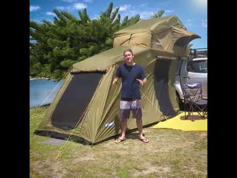 The Adventure Kings Roof Top Tent With 6 Person Annex
