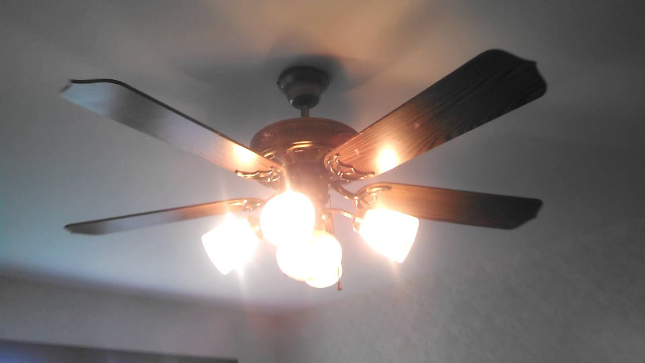 Ceiling fan lights casablanca bullet 52 inch stainless steel casablanca delta ii and cec ceiling fans in an estate sale house youtube mozeypictures Choice Image