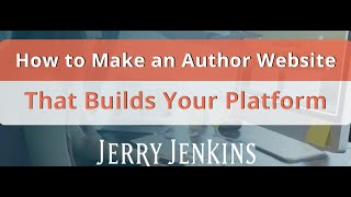 How to Make an Author Website That Builds Your Platform