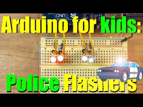 Arduino For Kids:   Police Flashers