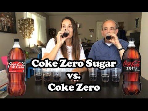 Coke Zero Sugar vs. Coke Zero in a Blind Taste Test