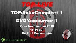TOP/SolarCompleet 1 tegen DVO/Accountor 1, zaterdag 6 januari 2018