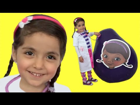 OPENING DOC MCSTUFFINS SURPRISE EGG   Songs + More   Toy Unboxing Videos   Princesses In Real Life